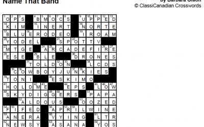 Crossword Solution – Jan 27