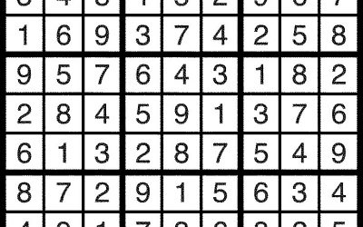 Sudoku Solution – Jan 20
