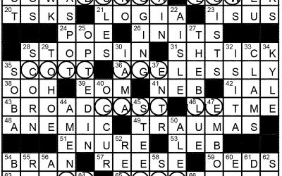 Crossword Solution – Feb 3