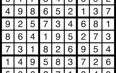 Sudoku Solutions – Jan 27