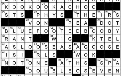 Crossword Solution – March 2