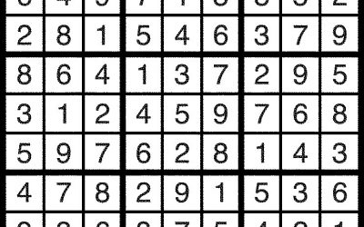 Sudoku Solution – March 2