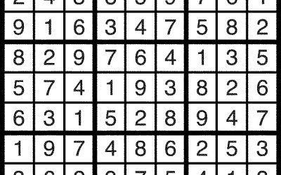 Sudoku Feb 17 Solution