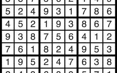 Sudoku, Feb 10 – Solution