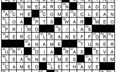 See Crossword Solution – June 1