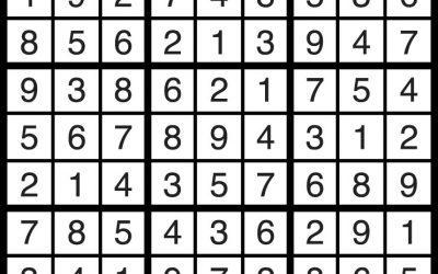 Sudoku Solution – June 1