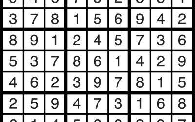 Sudoku Aug 10 – Solution