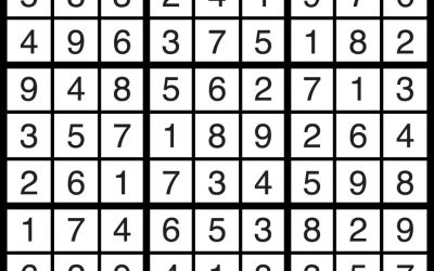 Sudoku Aug 24 – Solution