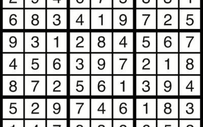 Sudoku Solution – Sept 7