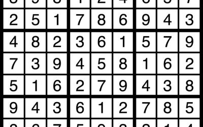 Sudoku Solution – Oct 19