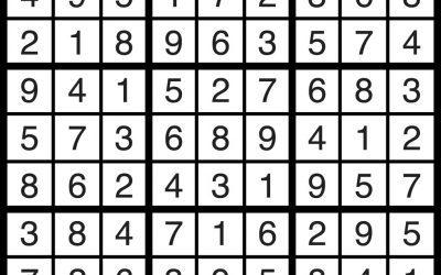 Sudoku Solution – Nov 2