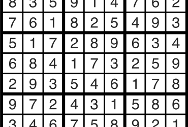 Sudoku Solutions | March 8, 2021