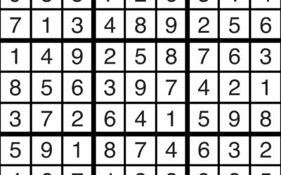 Sudoku | April 19 Solution