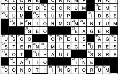 """Let Me Think"" | Crossword Solution"