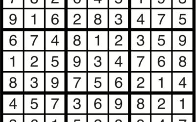 Sudoku | May 3 Solution