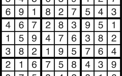 Sudoku | May 17 Solution