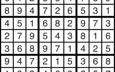 Sudoku | June 14 Solution