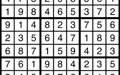 Sudoku   August 09 Solution