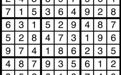 Sudoku   August 23 Solution