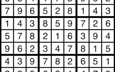 Sudoku   September 20 Solution