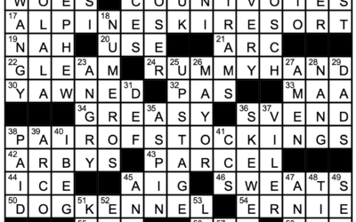 """""""The same But Different""""   Crossword Solution"""