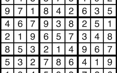 Sudoku   September 6 Solution