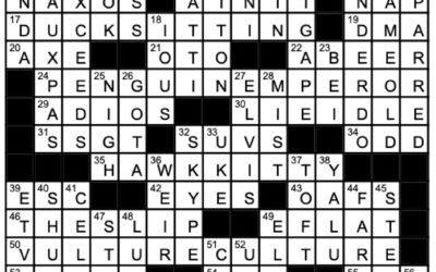 """""""Flip the Bird""""   Crossword Solution"""